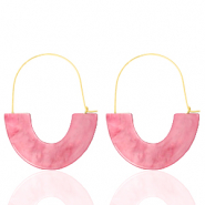 Trendy Ohrringe Resin Pink-gold