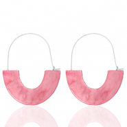 Trendy Ohrringe Resin Pink-silver