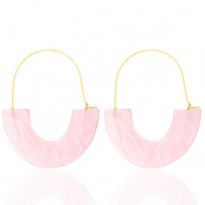 Trendy Ohrringe Resin Light pink-gold