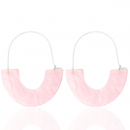 Trendy Ohrringe Resin Light pink-silver