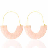 Trendy Ohrringe Resin Peach-gold