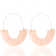 Trendy Ohrringe Resin Peach-silver