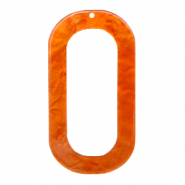 Resin Anhänger lang oval 56x30mm Flame orange