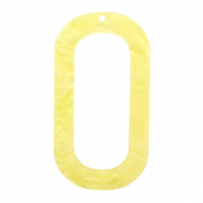 Resin Anhänger lang oval 56x30mm Sunshine yellow