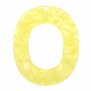 Resin Anhänger Oval 48x40mm Sunshine yellow