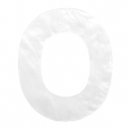 Resin Anhänger Oval 48x40mm Bright white