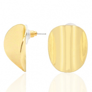 Trendy Ohrringe oval Gold (Nickelfrei)