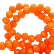 Top Glas Facett Perlen 4x3 mm rondellen Emberglow orange-pearl shine coating