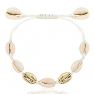 Armbänder Kauri Off white-gold