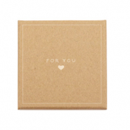 Schmuck-(Geschenk)-Box 'for you ♥' Brown