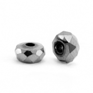 Hematite Perlen Facett Disc 4x2mm Anthracite grey