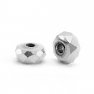 Hematite Perlen Facett Disc 4x2mm Silver grey