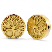 Hematite Perlen Tree of Life 10mm Gold