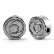 Hematite Perlen Rose 8mm Anthracite grey