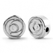Hematite Perlen Rose 6mm Silver grey