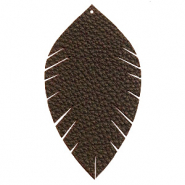Imi Leder Anhänger Blatt large Dark chocolate brown