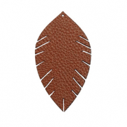 Imi Leder Anhänger Blatt small Chocolate brown