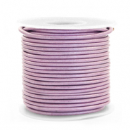 DQ Leder rund 1 mm Lilac purple metallic