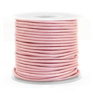 DQ Leder rund 1 mm Powder pink metallic