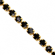 Strass Ketten Black-gold