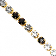 Strass Ketten Black crystal-gold