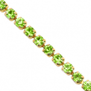 Strass Ketten Lime green-gold