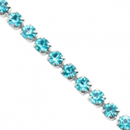 Strass Ketten Turquoise blue-silver