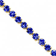 Strass Ketten Cobalt blue-gold