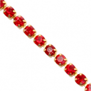 Strass Ketten Siam red-gold