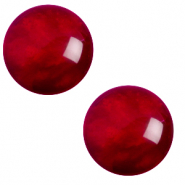 12 mm classic Cabochon Polaris Elements pearl shine Rubino red