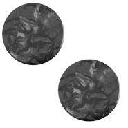 12 mm flach Cabochon Polaris Elements Lively Carbone black