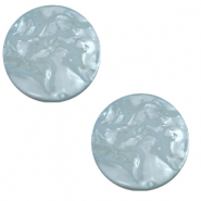 12 mm flach Cabochon Polaris Elements Lively Acquario blue