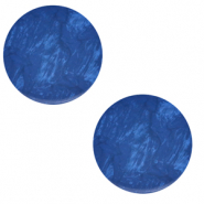 12 mm flach Cabochon Polaris Elements Lively Iolite blue