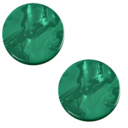 12 mm flach Cabochon Polaris Elements Lively Agata green