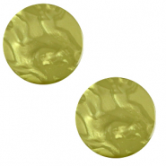 12 mm flach Cabochon Polaris Elements Lively Origano green