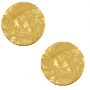 20 mm flach Cabochon Polaris Elements Lively Curry yellow