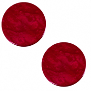 12 mm flach Cabochon Polaris Elements Lively Rubino red