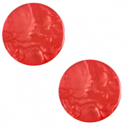 12 mm flach Cabochon Polaris Elements Lively Ibisco red
