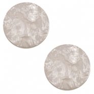 20 mm flach Cabochon Polaris Elements Lively Acciaio grey