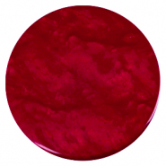 35 mm flach cabochons Polaris Elements Lively Rubino red