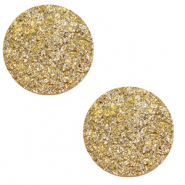12 mm flach Cabochon Polaris Elements Goldstein Curry yellow