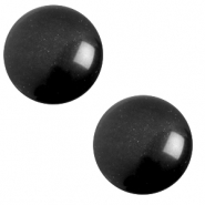 12 mm classic Cabochon Polaris Elements soft tone Nero black