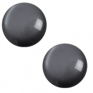 12 mm classic Cabochon Polaris Elements soft tone Carbone black