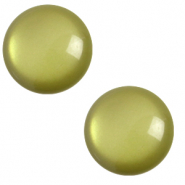 12 mm classic Cabochon Polaris Elements soft tone Origano green
