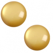 7 mm classic Cabochon Polaris Elements soft tone Curry yellow