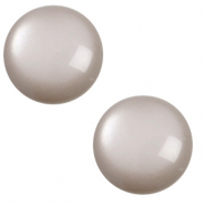 12 mm classic Cabochon Polaris Elements soft tone Acciaio grey