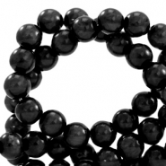 Polaris Perlen 6 mm rund pearl shine Nero black