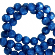 Polaris Perlen 6 mm rund pearl shine Iolite blue