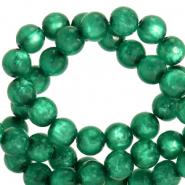 Polaris Perlen 6 mm rund pearl shine Agate green