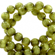 Polaris Perlen 6 mm rund pearl shine Origano green